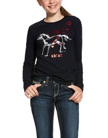 Ariat Girls Pony Love Long Sleeve Tee