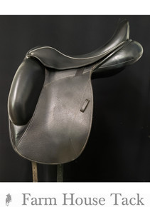 "Custom Icon Flight 17 1/2"" Dressage Used Saddle"