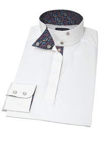 "Essex Classics Talent Yarn ""Peacock"" Ladies Wrap Collar Show Shirt"