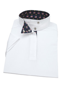 "Essex Classics ""Flags"" Girls Wrap Collar Short Sleeve Show Shirt"