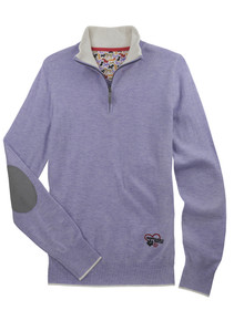 "Essex Danny & Ron's Lavender ""Trey"" Quarter-Zip Sweater"