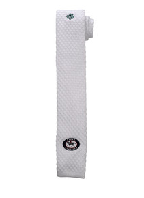 """Babington Clover"" White Knit Essex Men's Necktie"