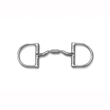 "Toklat Myler 3 3/8"" Medium Dee without Hooks with Low Port Comfort Snaffle MB 04"