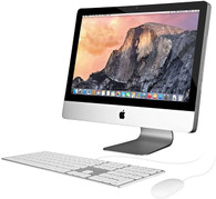 "Apple iMac 21.5"" - Intel i3, 4GB, 250GB, DVD-RW, OS 10.13 High Sierra (Keyboard/Mouse Included) - 2011"
