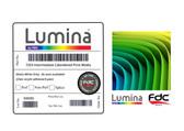"Lumina 7253 - Intermediate, Semi-Rigid, Matte White Calendered Print Film w/Permanent Adhesive - (5-year, 6.1 Mil) - 54"""