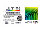 Lumina 7604 - 1-Sided 13oz Scrimless Non-Curling Banner with Grey Adhesive - 54""