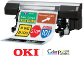 "OKIDATA COLORPAINTER M-64S 64"" TRAFFIC PRINTER WITH 7-COLOR, SX INKS"