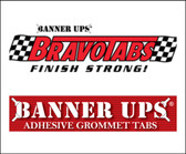 Banner Ups Clear Bravo Tabs  (100 Pack)