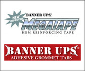 "Banner Ups Double Sided Clear Mega Tape (1-1/2"" x 30YDS)"