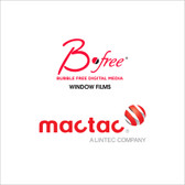 Mactac BFree Dry Apply Window Print Films  (v2 Adhesive)