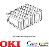 OKI IX Cleaning Liquid Cartridge Set for W64s (IP5-298)