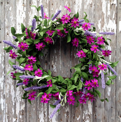 PURPLE PASSION WREATH - 22""