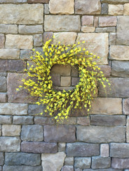 GOLDEN FORSYTHIA WREATH - 28""