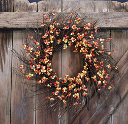 AUTUMN BERRY BURST WREATH - 24""