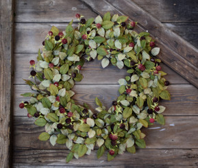 BLACKBERRY BUSH WREATH - 26""