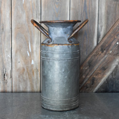 "GALVANIZED MILK CAN - 13.3"" x 6.3"""