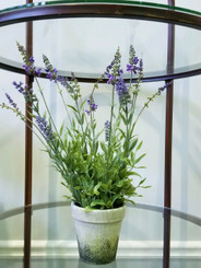 "POTTED LAVENDER  18"" FAUX"