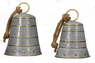 "FARMHOUSE BELLS - S/2 - 9"" X 9.5"", 7.6"" X 7.8"""