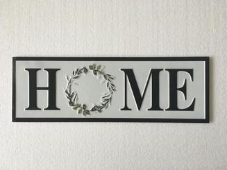 "METAL ART - HOME - 24 x 8"""