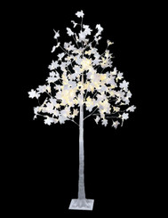WHITE MAPLE TREE 6'  MULTI LED - 120L