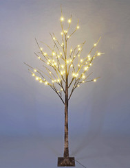 BROWN BIRCH TREE 6' LED - 72L