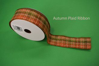 "AUTUMN PLAID RIBBON - 1.5"" X 10 YDS"