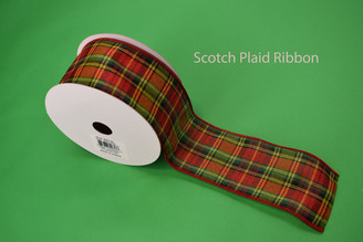 "SCOTCH PLAID RIBBON - 2.5"" X 10 YDS"