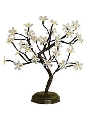 "CRYSTAL FLOWER LED BONSAI TREE - 18"" CLR"