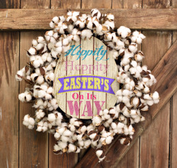 HIPPITY HOPPITY COTTON WREATH 28""