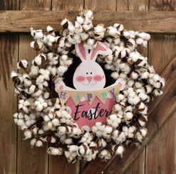 EASTER BUNNY TAIL WREATH 28""