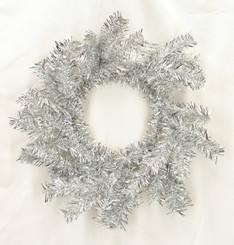"""TINSEL CANDLERING SILVER 11"""""""