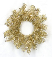 TINSEL RING CHAMPAGNE 11""