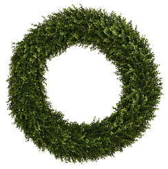 "FAUX BOXWOOD 32"" ROUND WRTH"