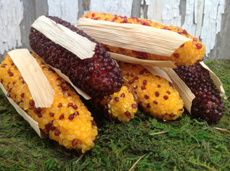 "INDIAN CORN - FAUX - 5"" - 6 PCS"