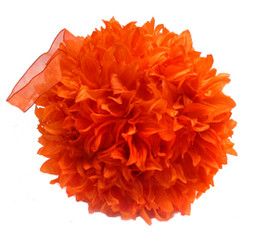 FLUFFY BALL - ORANGE - 16""