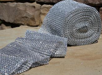 "GLIMMER DIAMOND WRAP - SILVER - 4.75"" x 30'"