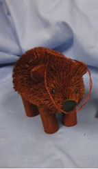 """HANDMADE ORNAMENT - GRIZZLY BROWN BEAR - 3.5"""""""
