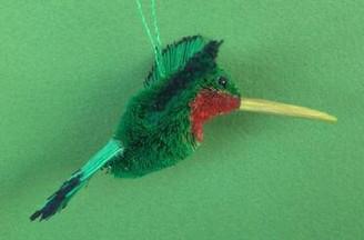 HANDMADE ORNAMENT - HUMMINGBIRD