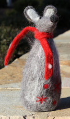 Wooly Mouse - Large with Red Scarf