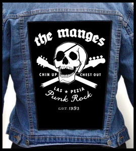 Backpatch The Manges skull chin up chest out