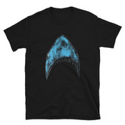 T-shirt Striped Shark by Manuel Cossu Unisex