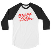 3/4 sleeve Brain Drain raglan shirt