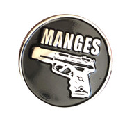 The manges lapel pin
