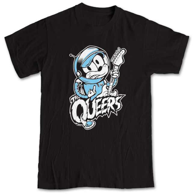 209a0915 T-shirt The Queers Space Cat - Striped Music