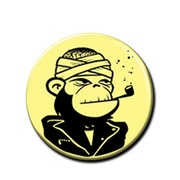 DeeCracks punk rock button cracked apeman