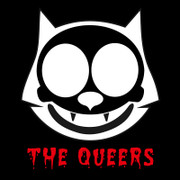 The Queers cat skull sticker