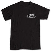 Striped Lookout Records black tshirt