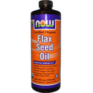 NOW Foods Certified Organic Flax Seed Oil - 24 fl oz