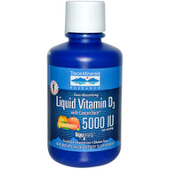 Trace Minerals Research Liquid Vitamin D3 with ConcenTrace Tropical Cherry - 5000 IU - 16 fl oz