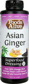 Foods Alive Superfood Dressing  Asian Ginger - 16 fl oz